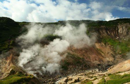 fervour: geysers in valley Mutnovskaya on Kamchatka
