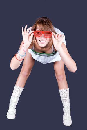 beautiful sexual girl on dark background Stock Photo - 5402450