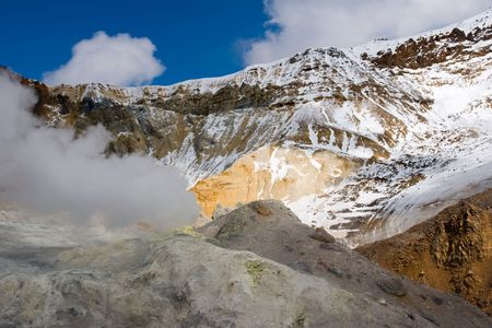 fervour: crater of the volcano Mutnovsky on Kamchatka