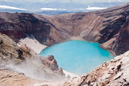 in crater of the volcano Goreliy on Kamchatka Stock Photo - 6741006