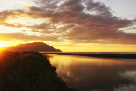 kamchatka: Kamchatka, sunrise on the Pacific coast