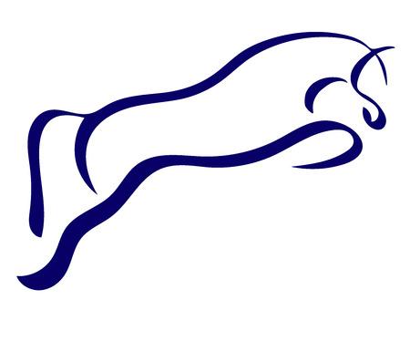 Un logo del cavallo che salta.
