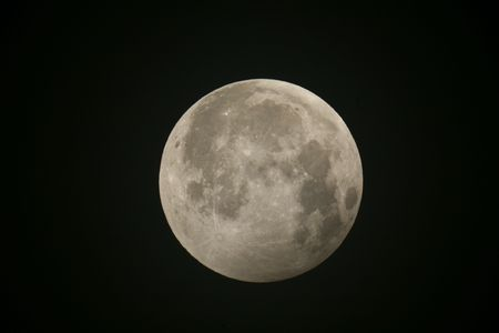 astrophoto: Partial eclips of the Moon--Russia--Lazurnaya--2008.08.16 from MAC 150010+2x extender Stock Photo