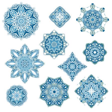 mandalas: Mandalas collection.  Vector mandalas on isolated white background.