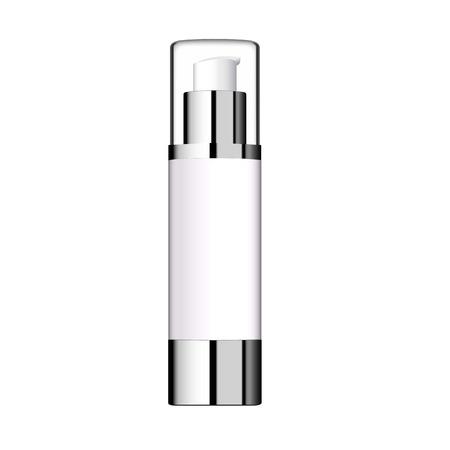 La bottiglia cosmetica realistica può contenitore dello spruzzatore. Archivio Fotografico - 71272684