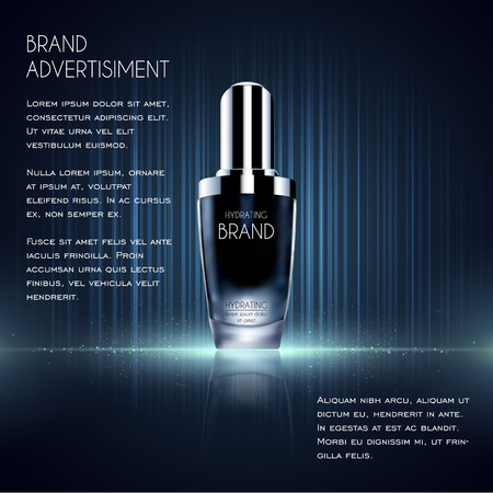 Cosmetic ads template, essence bottle.