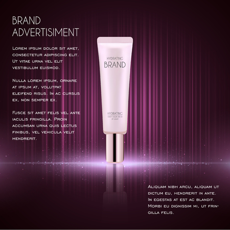 Cosmetic ads template, essence bottle