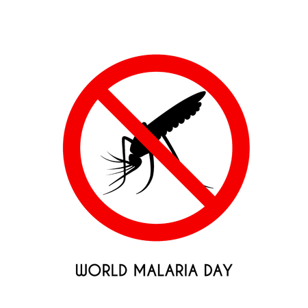Flat art image of world malaria day on with backdrop illustration, Illustration