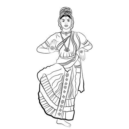 Indian dancing woman.