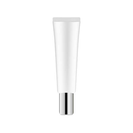 Realistic Cosmetic bottle can sprayer container. Dispenser for cream, soups, and other cosmetics with lid and without. Template for mock up your design vector illustration.