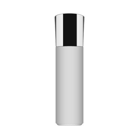 Realistic Cosmetic bottle can container for cream, soap, liquid soap, essential oil or perfume and other cosmetics.