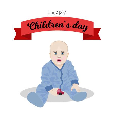 Poster design for Universal children s day illustration Vettoriali