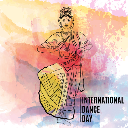 Creative vector abstract for World Dance day with nice and creative design illustration.