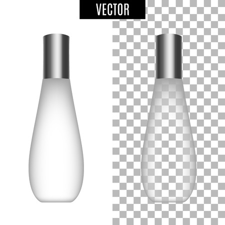 3d white realistic cosmetic package icon empty tubes on transparent background vector illustration. Realistic white plastic bottle for cream liquid soap with a pump.