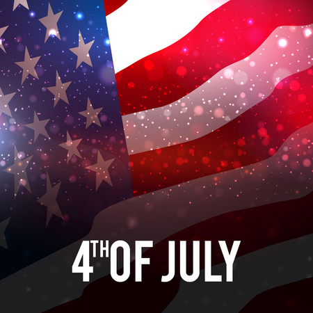 Colorful 4th of July poster template