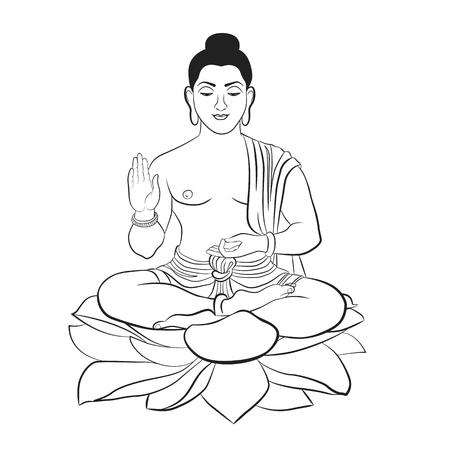 Buddha symbol on a white background