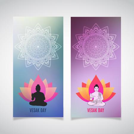 Illustration of Vesak day posters