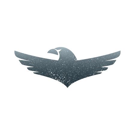 Eagle soaring rising Wings Logo design vector template. Luxury corporate heraldic flying Falcon Phoenix Hawk bird Logotype concept icon.