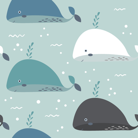 Sea life. Underwater world. Fish, jellyfish, sea bottom, backwaters ship, algae, treasure. Vector flat illustrations and icon set Archivio Fotografico - 101262862