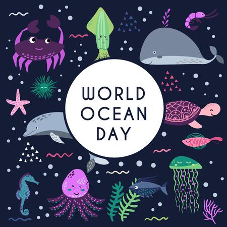 World ocean day 版權商用圖片
