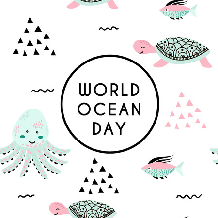 World ocean day. Element of image furnished by NASA 版權商用圖片