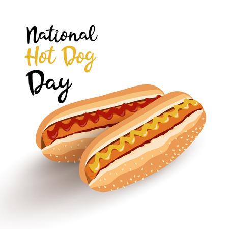 Homemade Hot Dogs  イラスト・ベクター素材