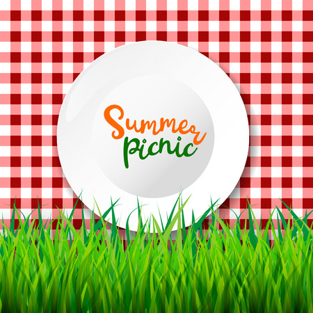 Picnic table cloth. Seamless checkered vector pattern. Vintage color plaid fabric texture. Archivio Fotografico - 103601105