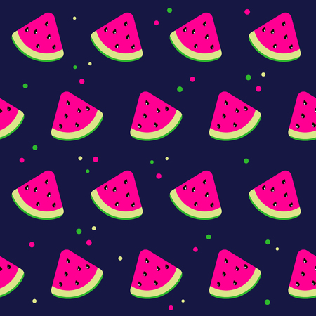 Vector watermelon background with black seeds. 向量圖像