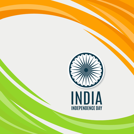 Indian Independence Day concept background with Ashoka wheel. Vector