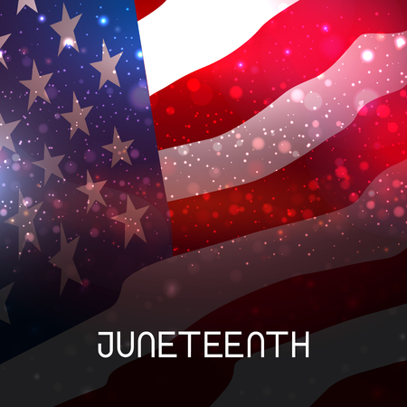 Juneteenth Freedom Day. African-American Independence Day,  イラスト・ベクター素材