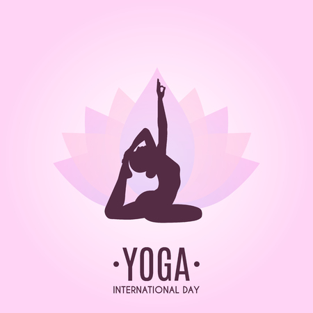 Yoga Colorful Fitness Concept. Vector illustration