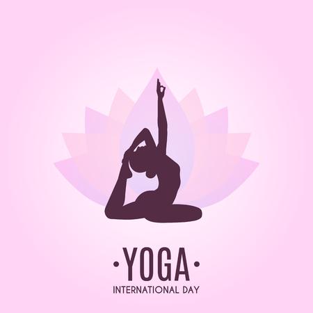 Yoga Colorful Fitness Concept. Vector illustration Archivio Fotografico - 103601164