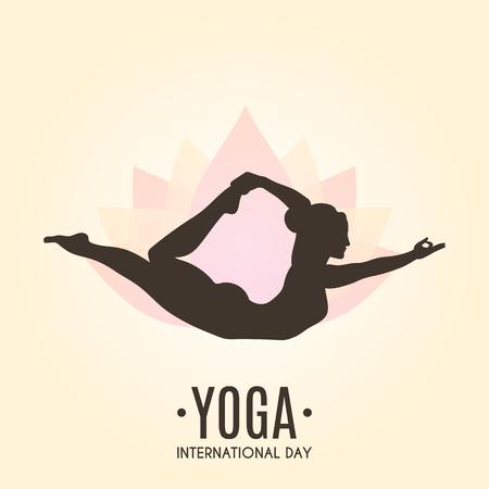 Yoga Colorful Fitness Concept. Vector illustration Archivio Fotografico - 103601168