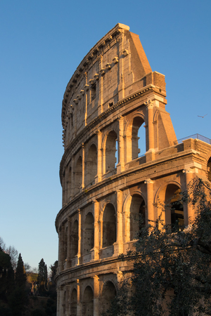 The colosseum the world famous landmark in Rome Italy. Stock Photo