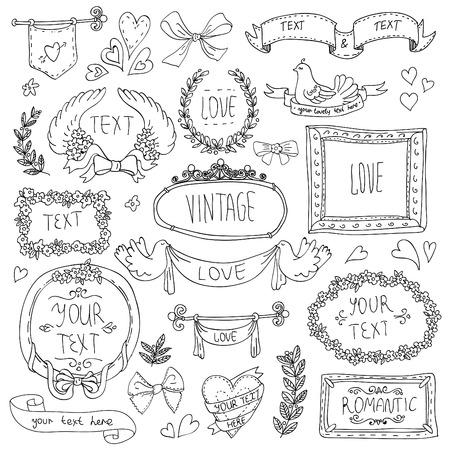vintage labels set, vector