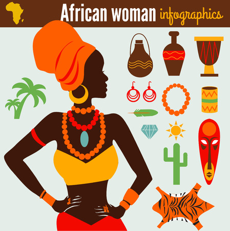 african mask: Beautiful Womens Infographic & Symbols