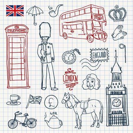 bandera de gran bretaña: Elementos Inglaterra establecen