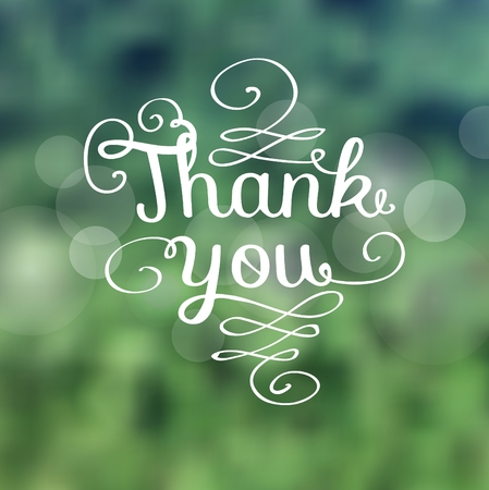 A Thank you message made of growing branches