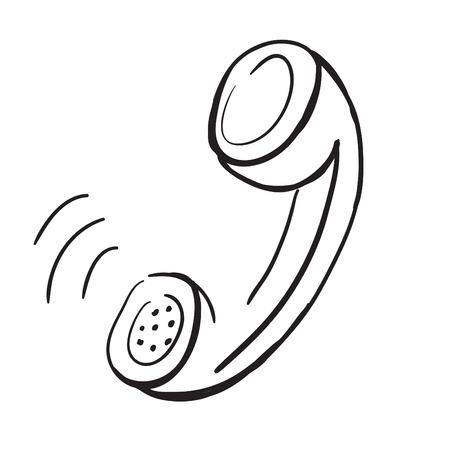 sketch illustration - telephone handset illustration