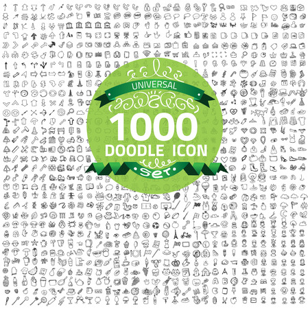 Set of 1000 doodle icon