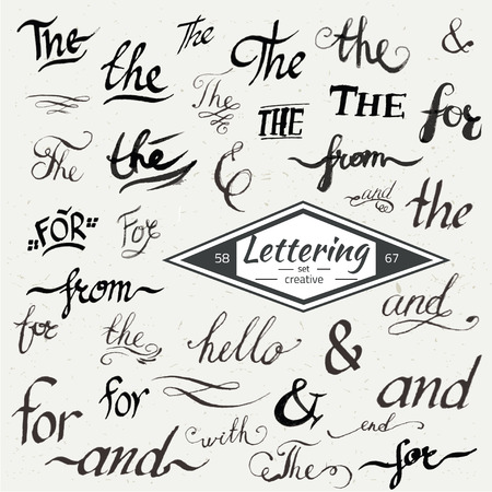 catchword: Hand drawn elegant ampersands and catchwords for your design