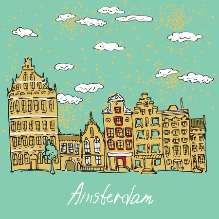 multistory: Amsterdam canal houses