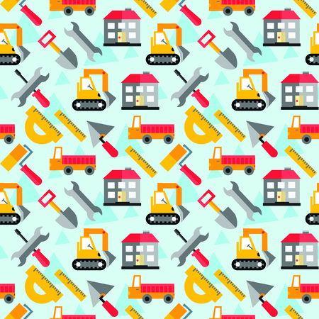 portage: Seamless pattern. Collection of modern shadow flat icon. Traffic and transport sign.
