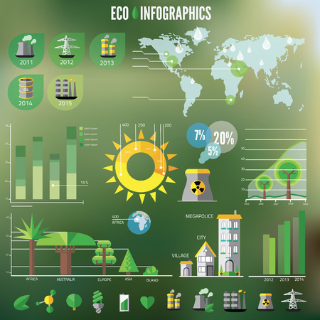 human resource: Ecology Infographic, vector illustration.