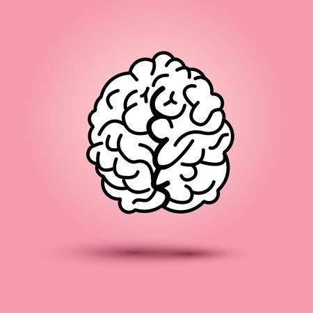 gyrus: Flat design: brain