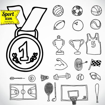air sport: Doodle sports icon. Vector illustration. Illustration