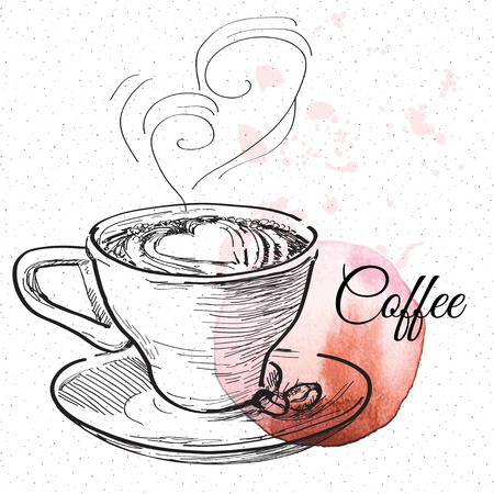 coffe: Coffe, vector hand drawing