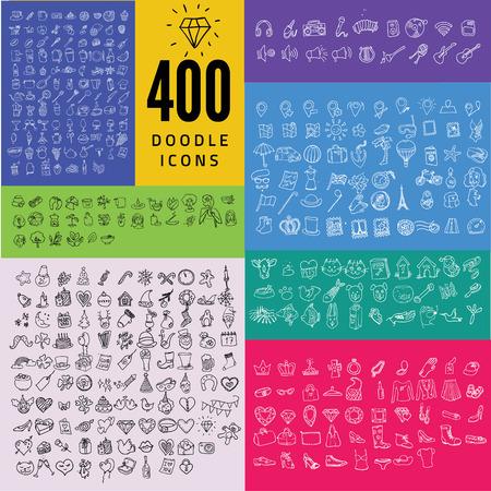 iconos de música: 1000 jugadores icono de Calidad: viajar, música, fiesta, comida, Spa, Mascota, Moda, Vectores