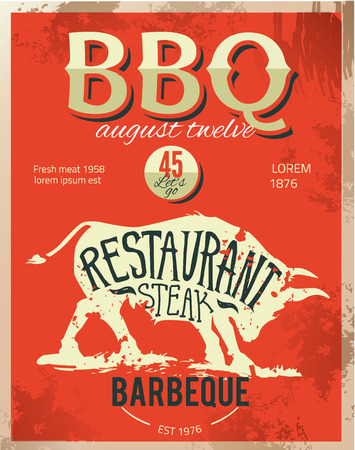 metal sign: Vintage metal sign - Dads BBQ - Vector EPS10. Grunge effects can be easily removed.