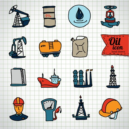 diesel: Oil and petroleum icon set in vector eps10